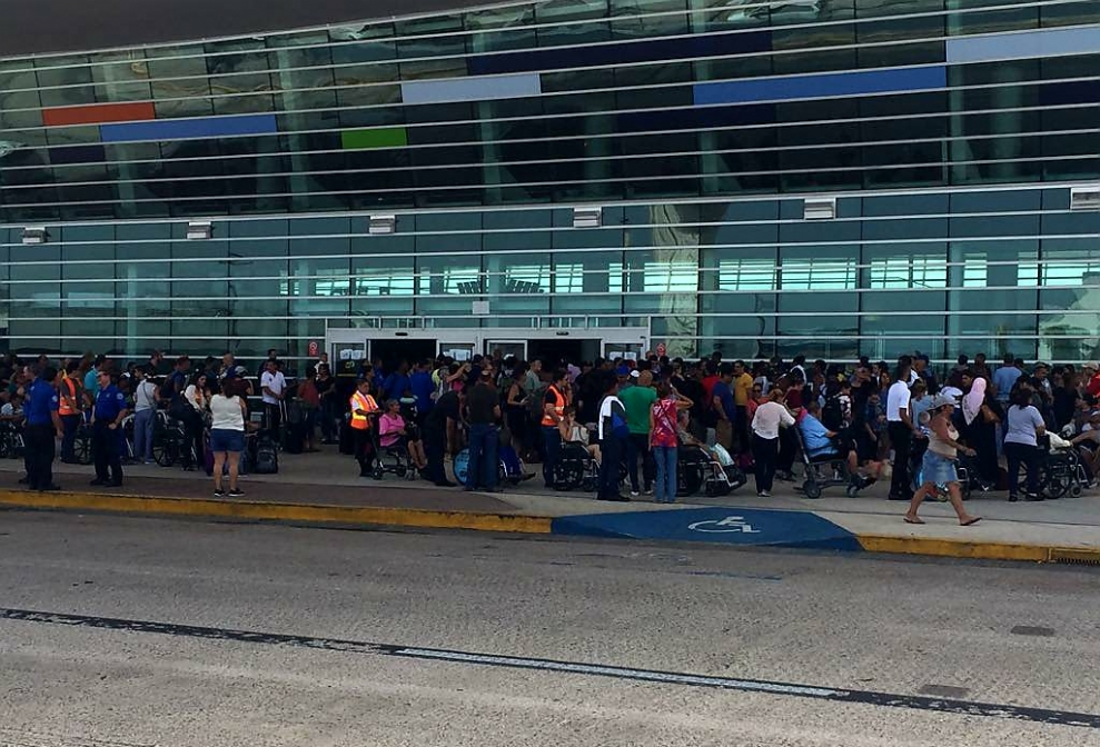 Chaotic Long Lines at the Airport